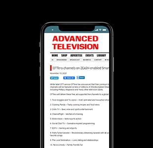 OTTera Channels on ZEASN-enabled Smart TVs