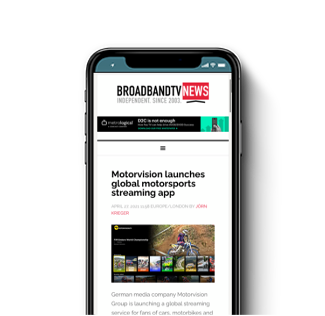 Motorvision launches Global Motorsports Streaming App
