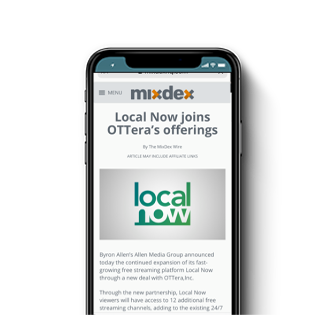 Local Now joins OTTera's offerings with New Steaming Channels