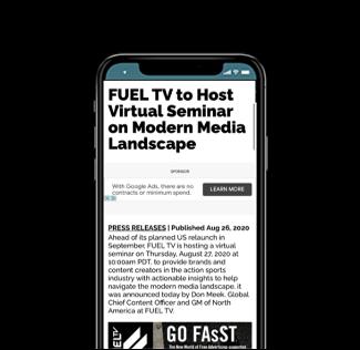 FUEL TV to Host Virtual Seminar on Modern Media Landscape