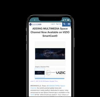 Space Channel Now Available on VIZIO SmartCast®