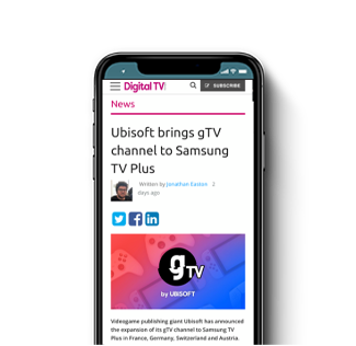 Ubisoft brings gTV channel to Samsung TV Plus