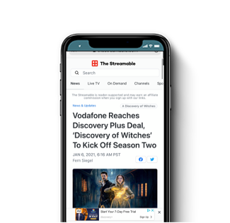 Vodafone Reaches Discovery Plus Deal & Upcoming Projects