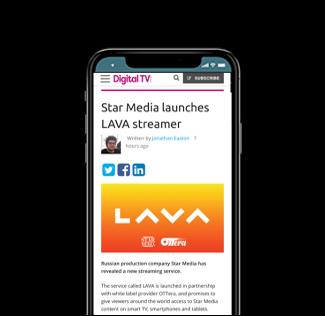 Star Media launches LAVA streamer